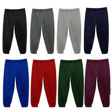 New Unisex Childrens Kids School Tracksuit Bottoms PE Fleece Jogging Trousers BN