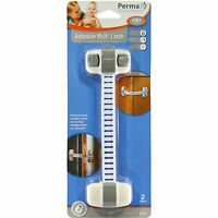 Perma Child Safety FLEXI CABINET LOCK 3Pcs Self Adhesive WHITE*Australian Brand