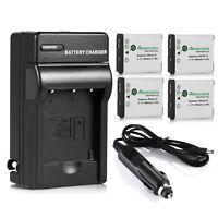 4x EN-EL19 ENEL19 Li-ion Battery +Charger For Nikon CoolPix S32 S100 S6600 S6800