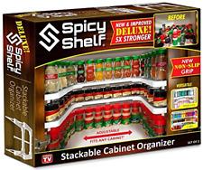 Spicy Shelf Deluxe As Seen on TV Kitchen Storage Organizer Cabinet Jars Rack New