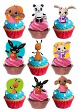 30 x Bing stand up edible cake toppers cupcakes PRE CUT