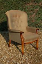 Smashing Grande Vintage Button Backed Wingback Fireside Armchair