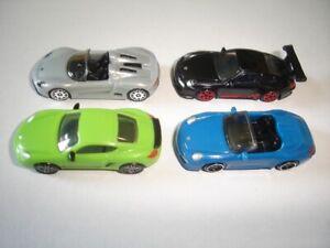 PORSCHE RACING MODEL RACE CARS SET 1:87 H0 - KINDER SURPRISE PLASTIC MINIATURES