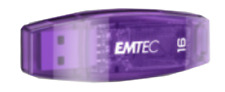 NEW Emtec USB2.0 16GB Flash Drive USB Purple Candy Colour Memory Storage Gift!