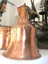 Antica BROCCA PER VINO IN RAME ripulito e rilucidato  anni '50 manico ottone