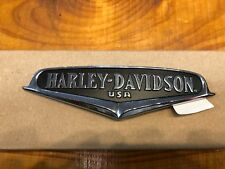 Harley Davidson Chrome Black Right Side Tank Emblem Medallion For Road King FLHR