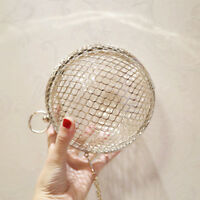 Women Hollow Ball Shaped Evening Clutch Cage Bag Purse Ladies Party Prom Handbag