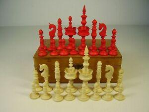 Antike Biedermeier Schach Figuren um 1860