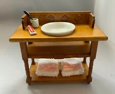 More details for dolls house miniature 1/12th scale bathroom washstand and accessories df908