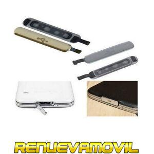 Tapon Tapa Para Puerto De Carga Micro Usb Polvo Samsung Galaxy S5 Plata Dorado