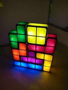 Tetris Night Light Stackable Constructible LED Lamp Block Complete 💥 US SELLER