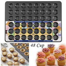 Mega 48 Cup Mini Muffin Pan Non Stick Baking Mold Cupcake Cookie Bakeware Tray