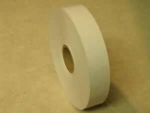 """ONE ROLL - 1"""" x 500 Feet Water Activated WHITE KRAFT PAPER TAPE"""
