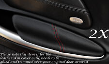 RED STITCH FITS PORSCHE BOXSTER 986  2X DOOR ARMREST LEATHER COVERS ONLY