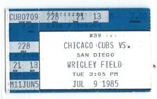 Ryne Sandberg two home runs ticket stub; Padres at Chicago Cubs 7/9/1985