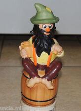 VTG Musical Bearded Man Figurine Revolving Decanter Bottle SANKYO w/ Cork Head