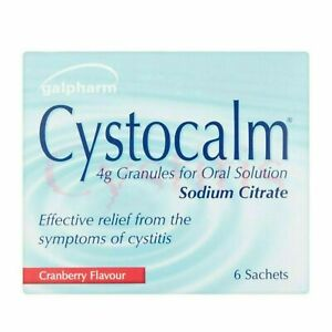 Cystocalm Cystitis Relief Urinary Tract Bladder Infection UTI Sodium Citrate 4g