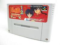 Super Famicom RANMA 1/2 Akanekodan teki Hihou Nintendo Cartridge Only sfc