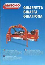 Farm Implement Brochure - Maschio Giraffetta et al Side Shredder c2010 (F5110)