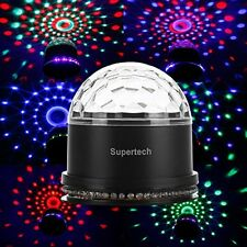 Supertech 12 Color Change RGB Sound Activated Mini Rotating Magic Light Ball DJ