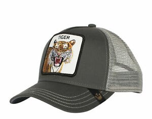 Goorin Bros Eye Of The Tiger Grey Men's Trucker Hat 101-0335-GRY One Size