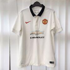 Manchester United Man U Football Away Shirt 2014/15, Kids Size 13-15 Years White