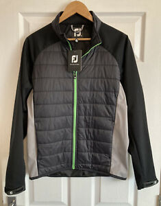 Mens FootJoy Hybrid Quilted Zip Up Golf Jacket Top, Size S, New With Tags