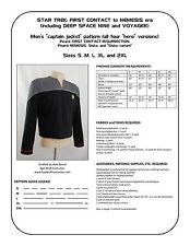 Star Trek Sewing Pattern - Starfleet uniform jacket - DS9, Nemesis (men's)