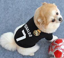 Ronaldo No 7 Pet Dog Cool Black Jersey Cotton Elastic Large Tshirt. (Aus Seller)