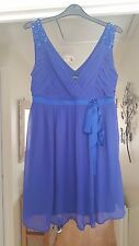 Gorgeous Hobbs Royal Blue Dress, 100% Silk Outerlayer, Occasion, Size 10, VGC