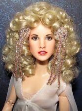 "Barbie portrait repaint OOAK one of a kind Stevie Nicks ""Bella Donna"" w/outfit!"