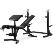 Adjustable Olympic Workout Weight Lifting Bench w/ Rack Incline Decline Flat Gym