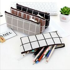 Students Pencil Pen Case NEW Storage Pouch Zipper Purse Cosmetic Makeup Bag