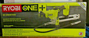 NEW - Ryobi P3410 One+ 18V Cordless Grease Gun Lithium Ion - Tool Only
