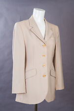 Austin Reed Jacket Size 10 Beige/Stone w/ Pin Stripe Fine Wool 100% SUPER SMART
