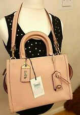 Coach 1941 Rogue 25 GLVTN Pebbled Leather Satchel Shoulder Bag 54536 in OL/Peony