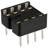 (50 Pcs) NEW 8 Pin DIP IC Socket Adaptor Solder Type PCB-Mount... USA SELLER!!!