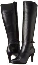 Circa Joan & David Boots Hadlie Round Toe Leather Knee High Black 5.5M