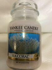 Yankee Candle Sea Coral Large Jar 22oz NEW! Fast Ship Tropical Summer