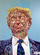 CORBELLIC ART AMERICA Original Mosaic DONALD TRUMP LARGE PATRIOT MOSAIC DECOR