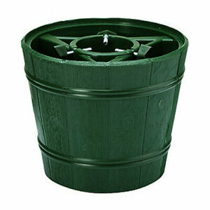 Barrel Style 8ft (2.4m) Christmas Tree Stand Tub Holder Base Water Holding Green