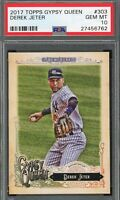 Derek Jeter 2017 Topps Gypsy Queen Baseball Card #303 Graded PSA 10 GEM MINT
