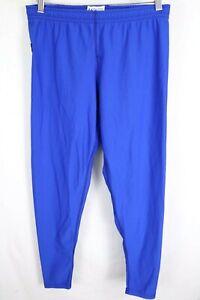 Under Armour Womens sz 2XL Blue Logo Patch Nylon Blend Sweatpants USA Made