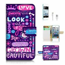 ( For iPod 6 / itouch 6 ) Flip Case Cover P2497 Girl