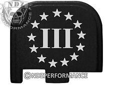 for Glock 43 ONLY Rear Slide Cover Plate Black 9mm G43 3 Percenter US 4