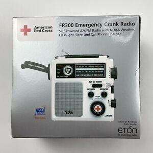 ETON FR300 American Red Cross Emergency Radio AM/FM Weather Flashlight White NEW
