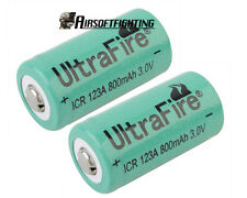 2X Rechargeable CR123A 16340 3V 800Mah Ultrafire Li-ion Batteries Battery