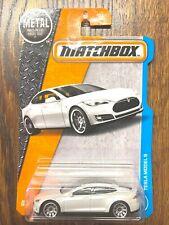Matchbox Tesla Model S white