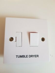 13A Switched Fused Connection Unit marked Tumble Dryer