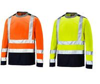Dickies Hi Vis High Vis Two Tone T-Shirt Long Sleeve Yellow / Orange SA22082
